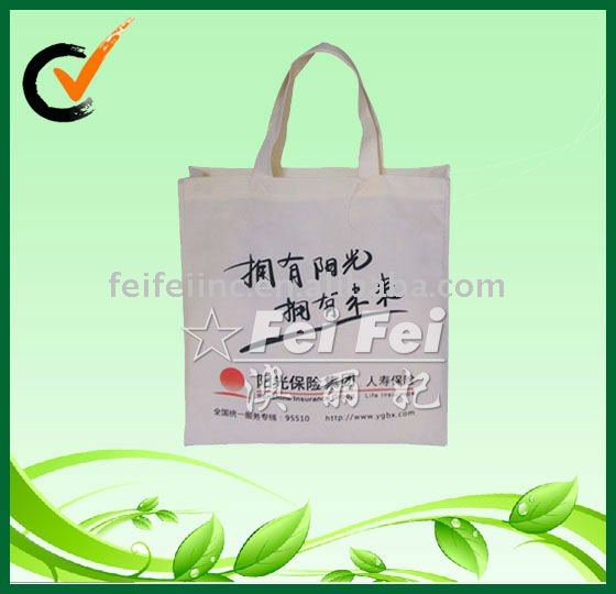 Non woven advertising bag for shopping or tote bags