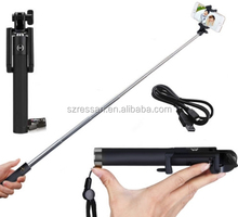 camera equipment bluetooth extendable hand held selfie stick for Samsung phone