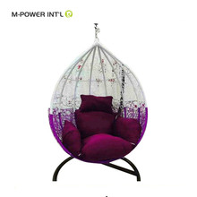New Design kids indoor hanging swing chair with egg shaped