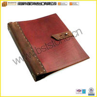 Manufacturer Wholesale Genuine Leather Binder With 3 Rings