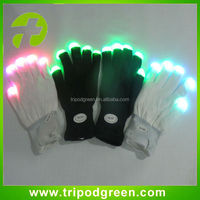 Novelty 7-mode LED Gloves Rave Light Finger Lighting Flashing Glowing Unisex Gloves