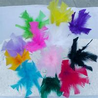 Hot sale handmade feather flowers for wedding decoration