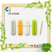 eco-friendly non-toxic and degradable 1 pocket silicone pencil bag