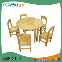 Children Furniture Sets 2015 Top-Selling Round Wooden Second Hand Dining Table And Chairs