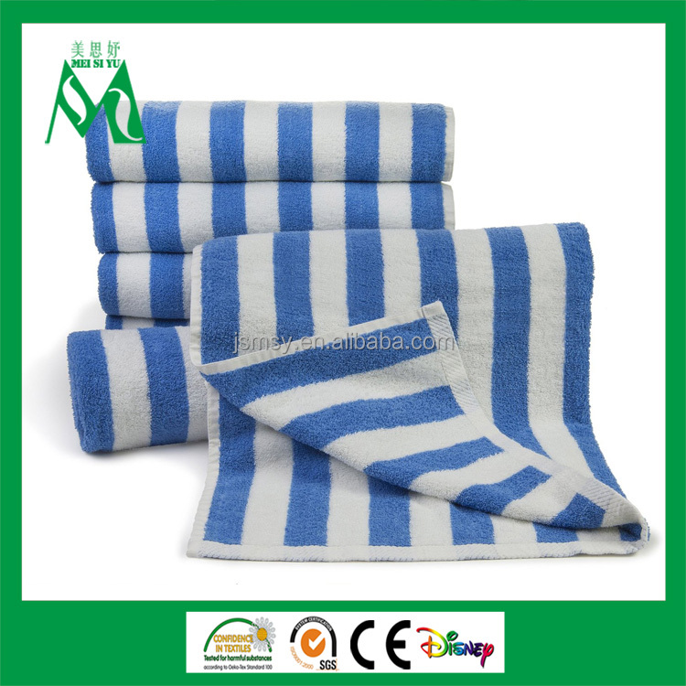 pool towel ,cotton blue and white pool towel