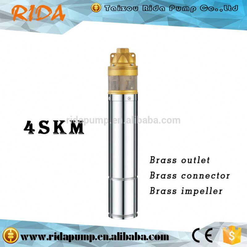 4SKM-100 2016 RIDA new high quality 4' brass impeller <strong>electricity</strong> engine with pumpe for agricultural