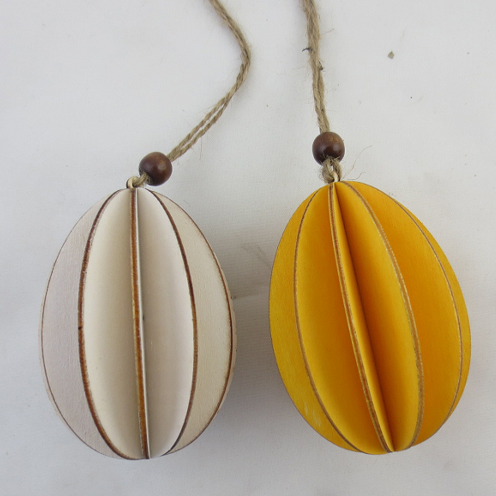 hot sale cheap hanging wood paper eggs or decorative eggs for easter decoration and arden