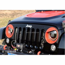 Front Headlight Cover Trim Fit for Jeep Wrangler JK JKU Sports Sahara Freedom Rubicon X & Unlimited X 2/4 door