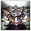 Beautiful Crystal Rainbow Lotus Flower For Wedding Gifts