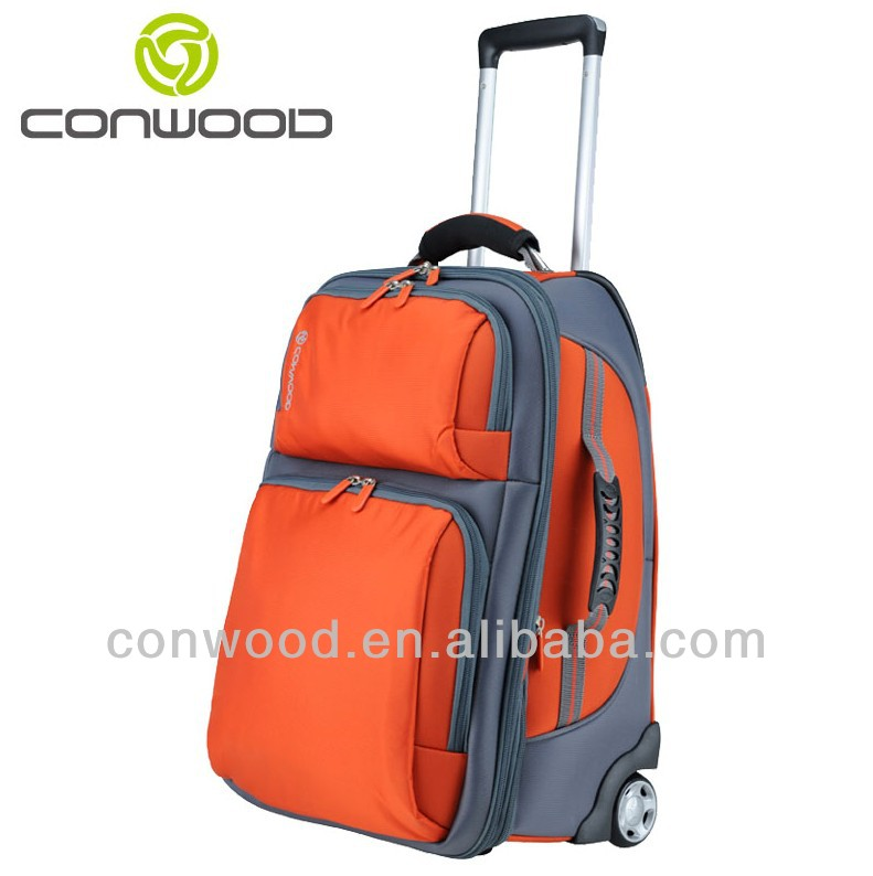 two-wheel Jacquard Polyester travelling luggage bags