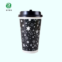 Single wall PE lined paper cup with lid