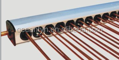High quality U copper pipe solar collector manifold