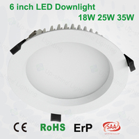 CE SAA approval 6 inch 7w/ 9w/11w/15w/18w/ dimmable led downlight