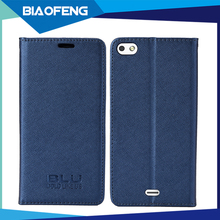 New premium fashionable business flip cover pu leather magnetic phone case for blu vivo air lte