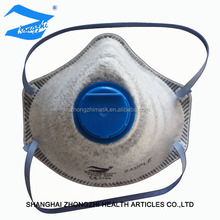 Disposable active carbon ce /ffp2 N95 mask with valve