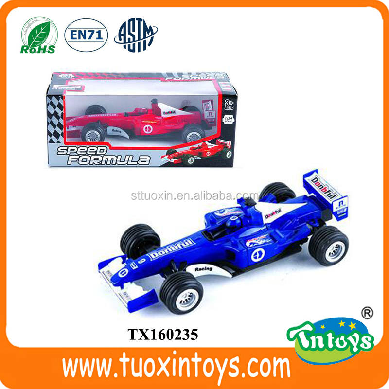 pull back 1:24 die cast formula car