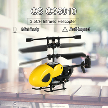 Mini RC Helicopter QS QS5010 3.5CH Micro Infrared Helicopters with Gyroscope Pocket RC Drone Aircraft