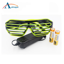 Popular Noveltity Led Flashing Light Up Shutter Glasses El Wire Glasses Led Light Glasses