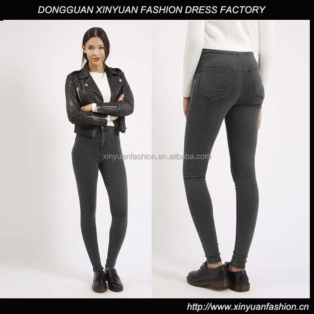 Women sexy tight jeans top design jeans manufacturers in China