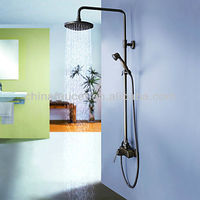 "Antique Brass 8"" Bath Shower Faucet Set with Telephone Hand Shower BL1063B"