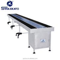 Guangzhou SINA EKATO Machinery Manufacturer Stepless Speed Stainless Steel Conveyor Belts Systems, Conveyor Table For Sales