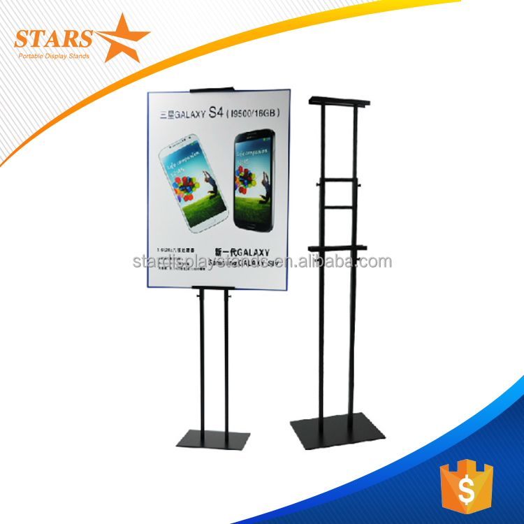 Double Sides Floor Stand Advertising Display , Picture Display Racks and Stands