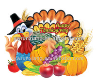 3D Paper Thanksgiving Decoration with Fruits Wall Sticker