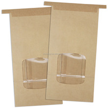 Poly lining Tin Tie Brown Kraft Paper Bag for Cookie Coffee