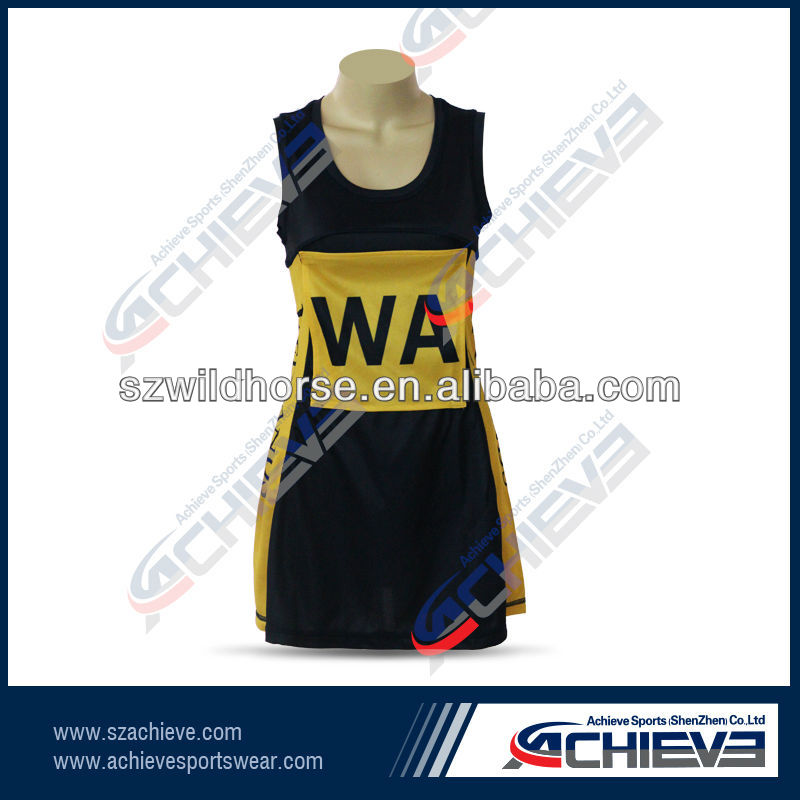 Professinal silk screen sublimation netball body suite