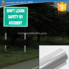 Silver/White Reflective Sheeting For Road Sign 3M Glue PET Reflective Material Life 3 Years Reflective Vinyl Film