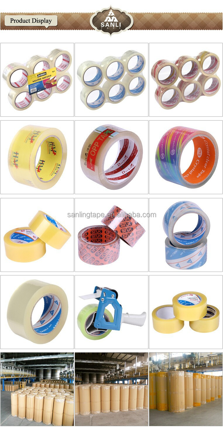 No Airbubble Crystal Clear BOPP Adhesive Tape Jumbo Roll