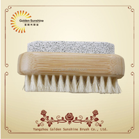 bamboo pumice stone nail brush ,hand washing nail brush wholesale, brush nail