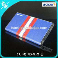 Free pack box metal aluminium 8000 external power bank for lenovo with CE FCC ROHS certificates