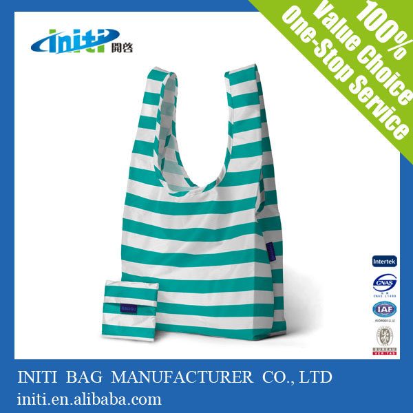 Top Quality Promotion Cheap Custom Folding Polyester Shopping Bag
