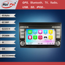 HuiFei wince 6.0 autoradio 2 din dvd gps for Fiat bravo car dvd gps with Phone book GPS SWC