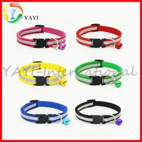 Nylon Reflective Small Pet Cat Dog Bell Collar