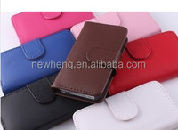 Plain Color Real Leather Case for iPhone4
