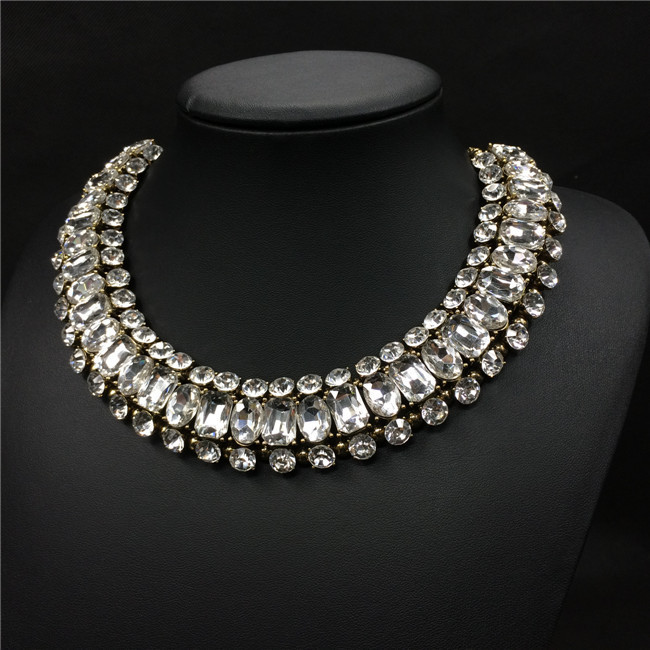 high quality crystal statement necklace crystal jewelry women crystal costume jewelry