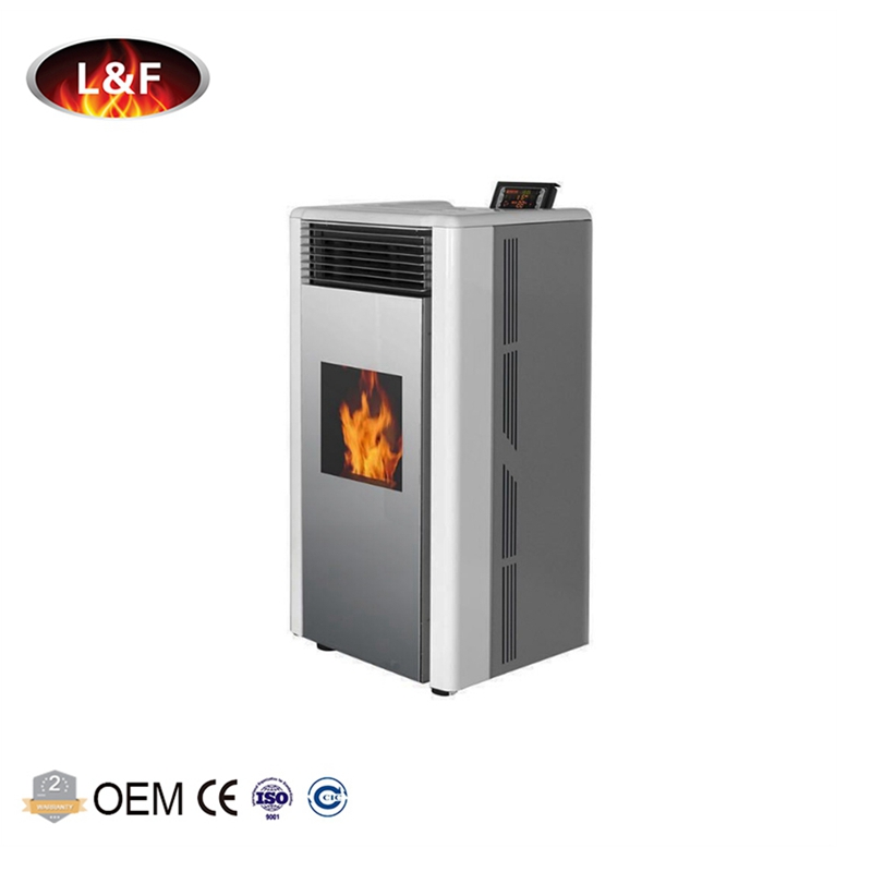 Freestanding smokeless cast iron wood pellet stove