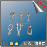 Pole Line Hardware Forged Carbon Steel Y Type Ball Eye/ 30 000 LBS Hot Dip Galvanized Ball Clevis