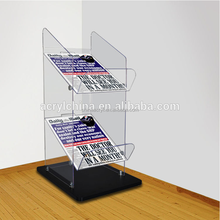 high quality customized clear free standing acrylic shelves