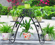 home decor garden line patio furniture wholesale handicraft step 3 tier metal flower stand wrought iron pot plant holder