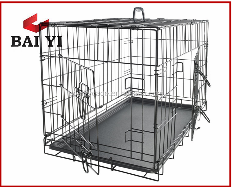 Foldable metal dog training cage
