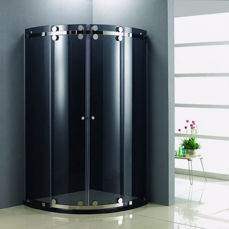 Russian Stainless Steel Parts Double Roller Round Sliding Shower Room/Shower Door (KD8016)