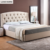 Home bedroom beds furniture leather soft bed