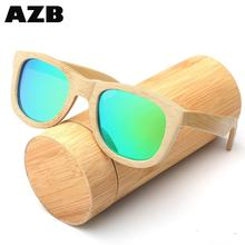 AZB New design wood men sunglasses <strong>bamboo</strong> with great price