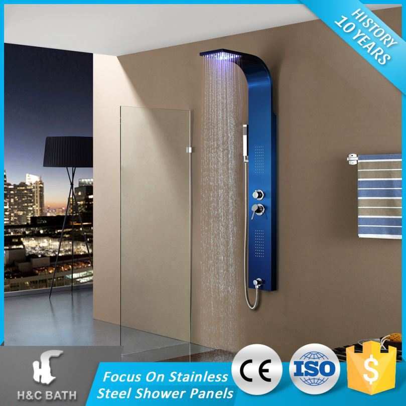 Wholesale Price Overhead Spa Shower Stainless Steel Led Shower Panel