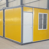 Competitive price Frame system Customized Folding container house for construction site with Good temp-keeping and Recycling use