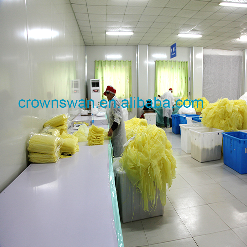 Factory surgical gowns disposable disposable isolation gowns Disposable CPE/PE Plastic formal gown medical