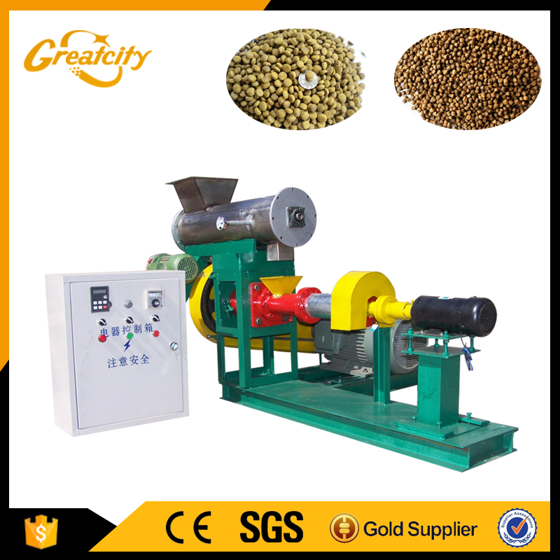 Professional manufacturer new arrival dry type floating fish feed pellet making machine in bangladesh